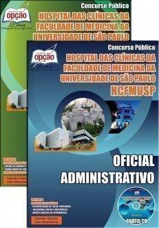 Apostila Concurso Oficial Administrativo HC - FM - USP - SP