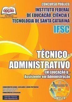 TÉCNICO-ADMINISTRATIVO - ASSISTENTE EM ADMINISTRAÇÃO - IFSC