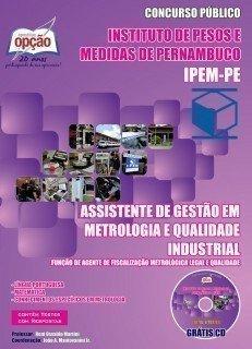 ASSISTENTE DE GESTÃO EM METROLOGIA E QUALIDADE INDUSTRIAL