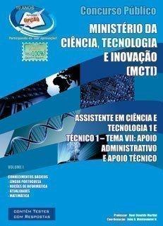 ASSISTENTE EM CIÊNCIA E TECNOLOGIA 1 / TÉCNICO 1 - TEMA VII - VOL_I