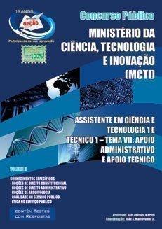 ASSISTENTE EM CIÊNCIA E TECNOLOGIA 1 / TÉCNICO 1 - TEMA VII - VOL_II