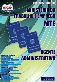 Apostila Agente Administrativo - Concurso Ministério Do Trabalho E Emprego (mte...
