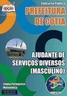 Apostila Prefeitura de Cotia - Ajudante de Serviços Diversos (Masculino)
