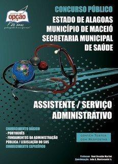 Apostila Assistente / Serviço Administrativo - Concurso Prefeitura De Maceio / ...