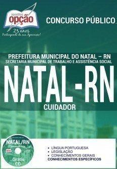 Apostila Prefeitura do Natal RN 2016 Concurso SEMTAS CUIDADOR