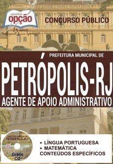 apostila para concurso público da Prefeitura de Petrópolis, para o cargo de Agente de Apoio Administrativo.