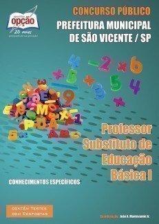 Apostila Professor Substituto De Educação Básica I - Concurso Prefeitura De S...