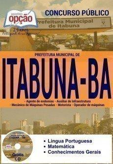 apostila Prefeitura de Itabuna todos os cargos DE NÍVEL FUNDAMENTAL COMPLETO