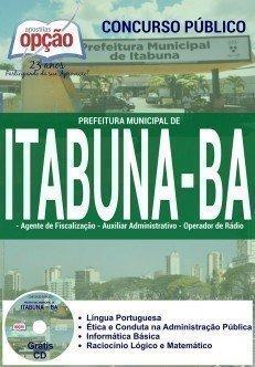 apostila Prefeitura de Itabuna 2016 todos os cargos.