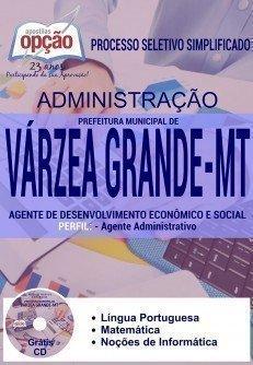 Apostila Prefeitura de Várzea Grande AGENTE ADMINISTRATIVO
