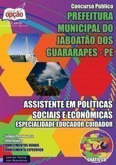 ASS EM POLÍTICAS SOCIAIS E ECONÔMICAS – ESP EDUCADOR CUIDADOR