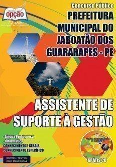 Apostila Concurso Jaboatão  - Assistente de Suporte à Gestão - 2015