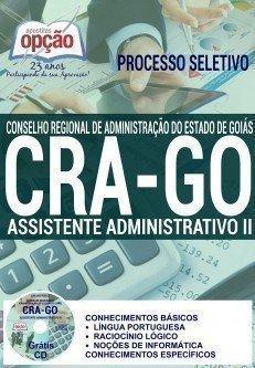 Apostila Processo Seletivo CRA-Goiás Conselho Regional de Administração de Goiás - CRA GO, Assistente Administrativo,