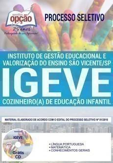 COZINHEIRO(A) DE EDUCAÇÃO INFANTIL