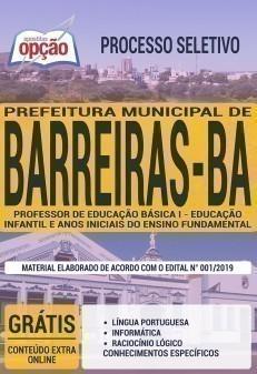 PROFESSOR DE EDUCAÇÃO BÁSICA I - EDUCAÇÃO INFANTIL E ANOS INICIAIS DO ENSINO