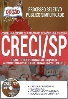 Apostila Processo Seletivo Público Simplificado CRECI SP 2017 | PROFISSIONAL DE SUPORTE ADMINISTRATIVO OPERACIONAL NÍVEL MÉDIO