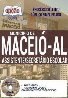 Apostila Processo Seletivo SEMED Maceió AL 2016, Secretário Escolar.