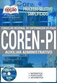 Apostila processo seletivo Coren Piauí - Auxiliar Administrativo