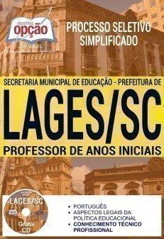 Apostila Processo Seletivo Simplificado Prefeitura de Lages 2017 | PROFESSOR DE ANOS INICIAIS