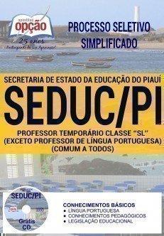 PROFESSOR TEMPORÁRIO CLASSE SL (COMUM A TODOS - EXCETO PROF DE LÍNGUA PORT.)