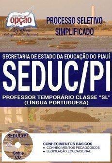 PROFESSOR TEMPORÁRIO CLASSE SL (LÍNGUA PORTUGUESA)