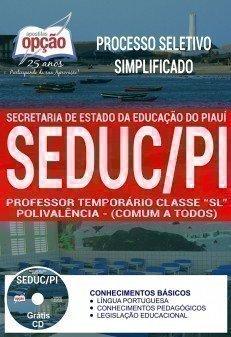 PROFESSOR TEMPORÁRIO CLASSE SL - POLIVALÊNCIA (COMUM A TODOS)