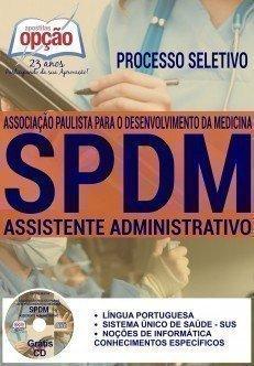 Apostila concurso SPDM SAMU Santa Catarina, ASSISTENTE ADMINISTRATIVO