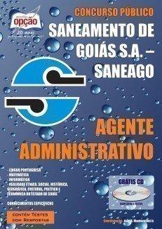 Apostila Agente Administrativo - Concurso Saneamento De Goiás S.A. (saneago)...