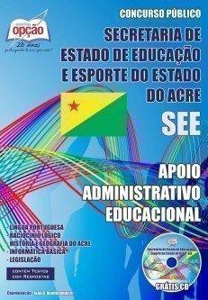 Apostila Apoio Administrativo Educacional - Concurso Secretaria De Estado De Edu...