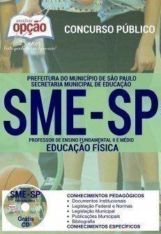 apostila concurso sme/sp PROFESSOR DE EDUCAÇÃO FÍSICA