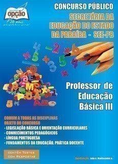 Apostila Professor De Educação Básica 3 - Concurso See / Pb...