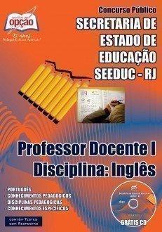 PROFESSOR DOCENTE I – DISCIPLINA: INGLÊS