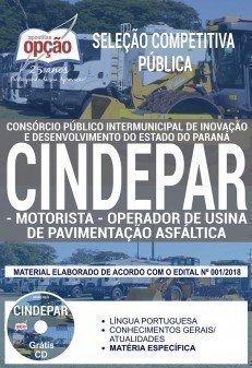 MOTORISTA E OPERADOR DE USINA DE PAVIMENTAÇÃO ASFÁLTICA