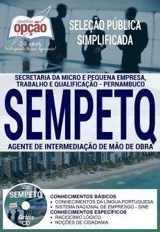 Apostila Seleção Pública Simplificada SEMPETQ 2017 – AGENTE DE INTERMEDIAÇÃO DE MÃO E OBRA