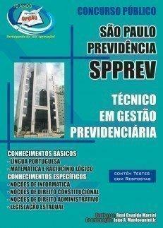 Apostila Técnico Em Gestão Previdenciária - Concurso SPprev / SP...