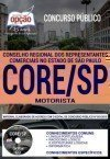 Concurso CORE SP 2018 - MOTORISTA