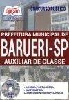 Concurso Prefeitura de Barueri SP 2017 - AUXILIAR DE CLASSE