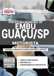 Apostila Prefeitura de Embu-Guaçu - SP 2020 - Motorista