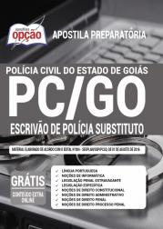 Apostila PC-GO 2020 - Escrivão de Polícia Substituto