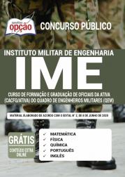 Apostila IME 2020 - Curso de Formação e Graduação de Oficiais da Ativa (CACFG/Ativa) do Quadro de Engenheiros Militares  (QEM)