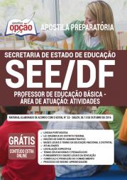 Apostila SEE-DF 2020 - Professor de Educação Básica - Área de Atuação: Atividades