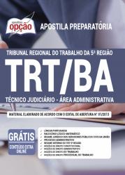 Apostila TRT-BA 2020 - Técnico Judiciário – Área Administrativa