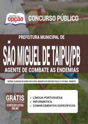 Apostila Prefeitura de São Miguel de Taipu - PB 2020 - Agente de Combate as Endemias