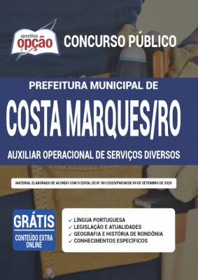 Apostila Concurso Prefeitura de Costa Marques 2020
