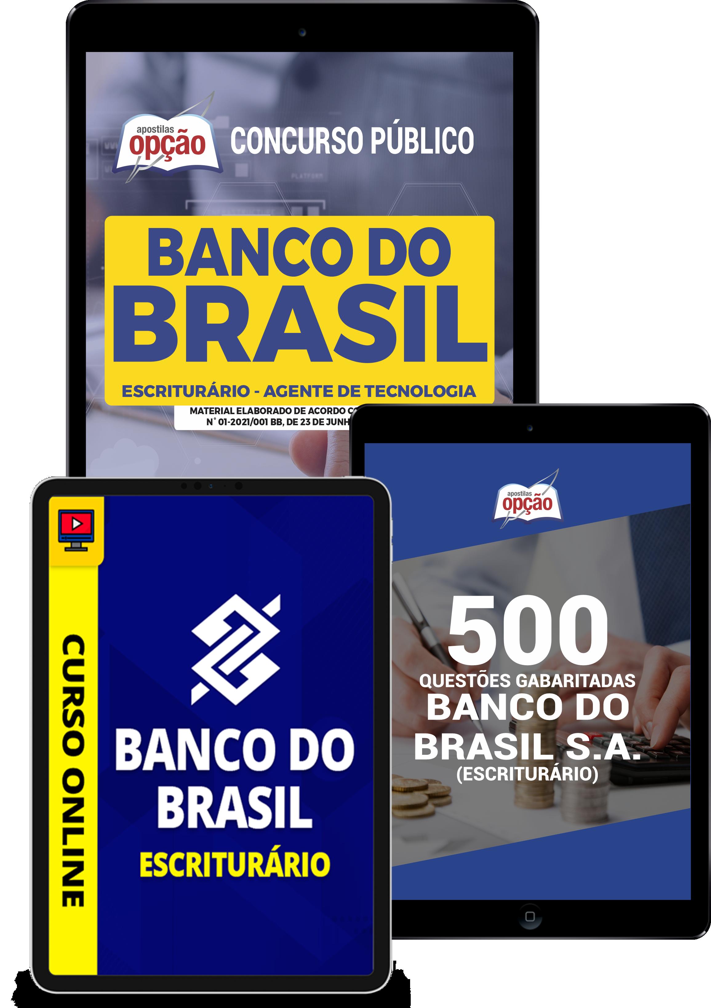 Combo Banco do Brasil Escriturário - Agente de Tecnologia
