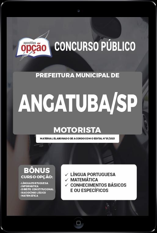Apostila Prefeitura de Angatuba - SP PDF - Motorista 2021