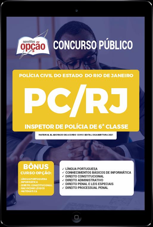 Apostila PC-RJ PDF - Inspetor de Polícia de 6ª Classe 2021
