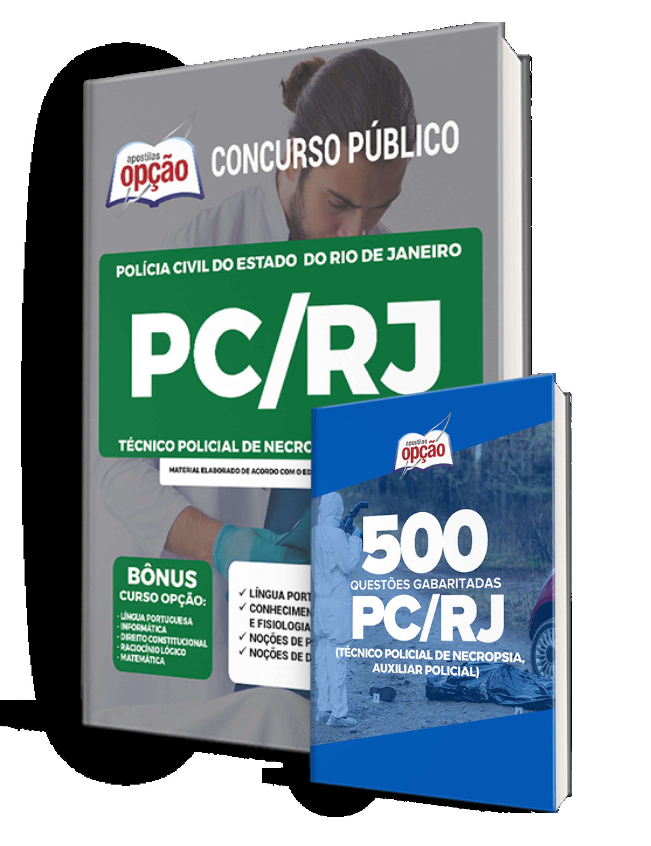 Combo PC-RJ Técnico Policial de Necropsia de 3ª Classe