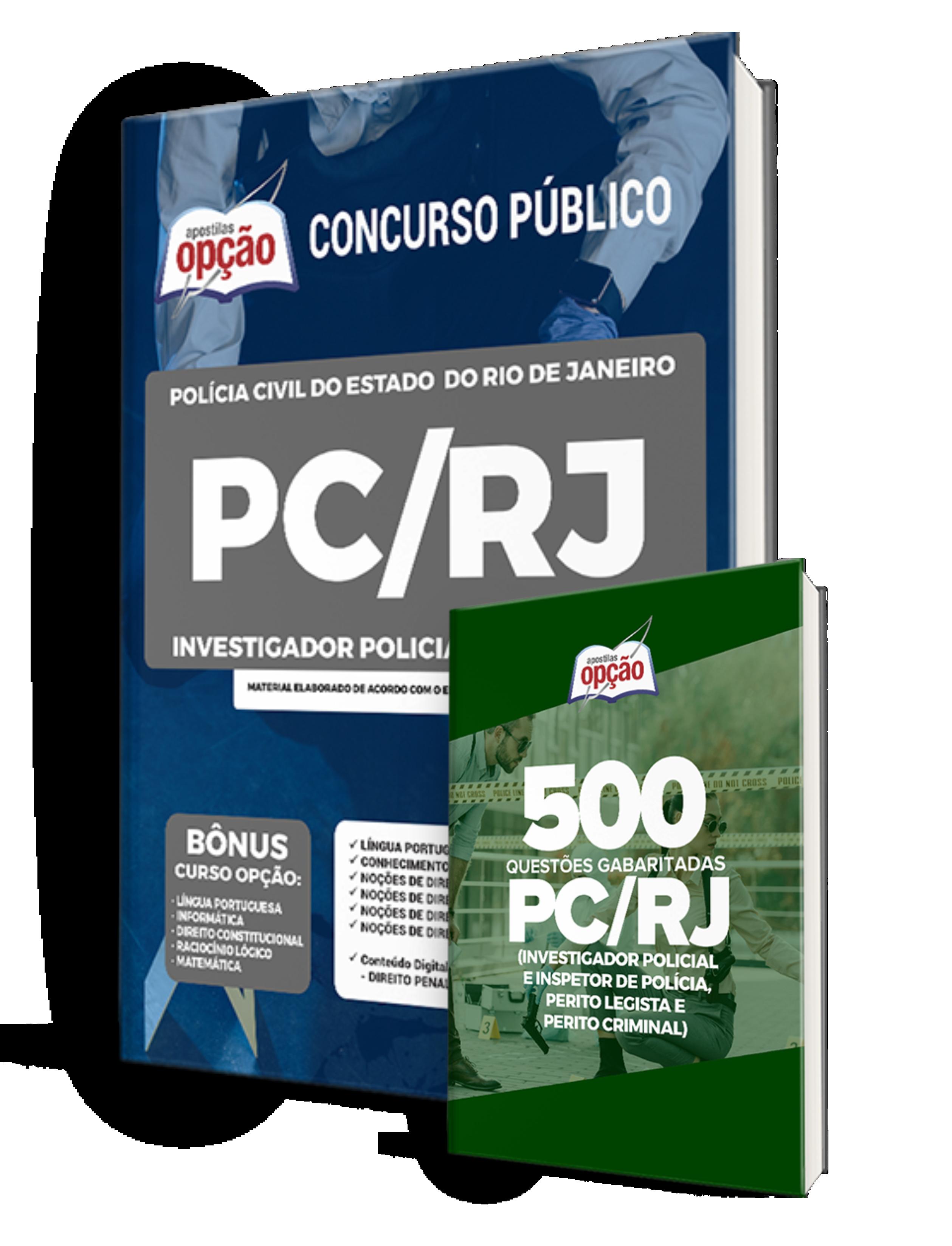 Combo PC-RJ - Investigador Policial 3ª Classe