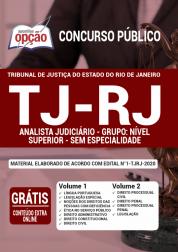 Apostila TJ-RJ 2020 - Analista Judiciário - Grupo: Nível Superior - Sem Especialidade